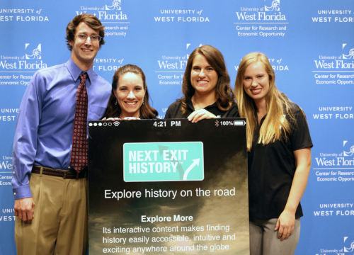 """UWF graduate students participate in """"Next Exit History"""" project."""