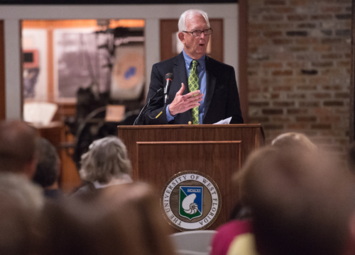 """Roy Hunt presenting at Experience UWF Downtown Lecture Series with """"A Tale of Two Cities: Historic Preservation in Pensacola and St. Augustine."""