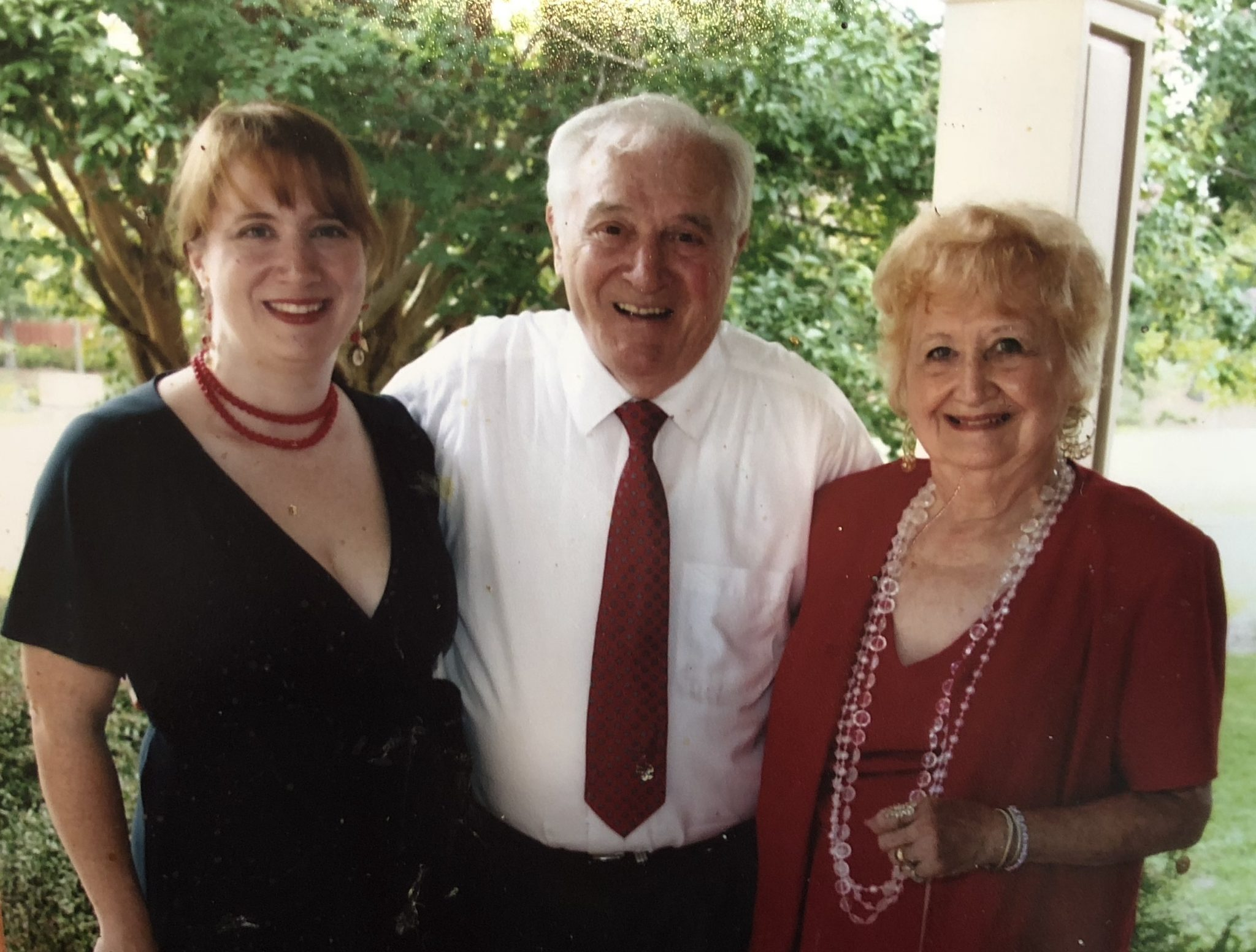 """Cornelia """"CeCe"""" Boone with her parents, Curtis and Lavonna Boone"""