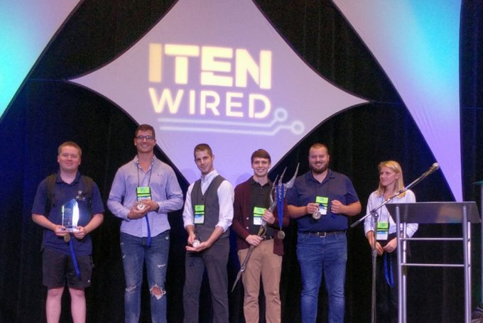 UWF Cybersecurity students received their award at the ITEN WIRED competition