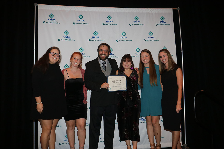 "UWF peer educators awarded ""Outstanding Peer Education Program"" at 2018 NASPA conference"