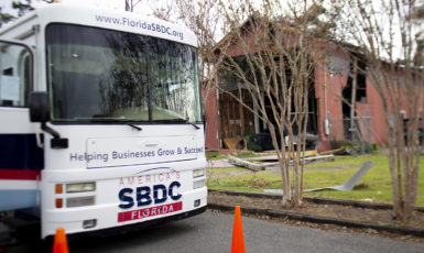 Florida SBDC at UWF provides recovery resources through their mobile assistance programs following Hurricane Michael