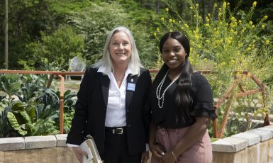 UWF President Martha D. Saunders and UWF Student Body President Zenani D. Johnson
