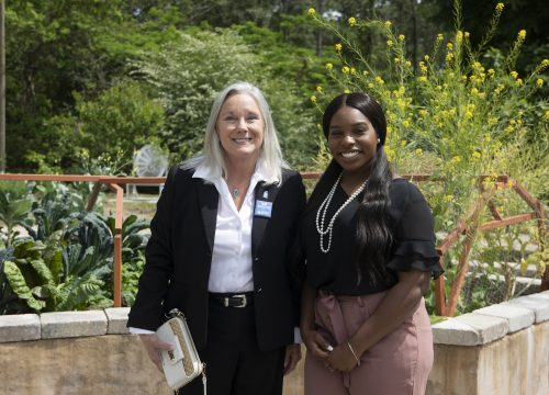 UWF President Martha D. Saunders and UWF Student Body President Zenani D. Johnson