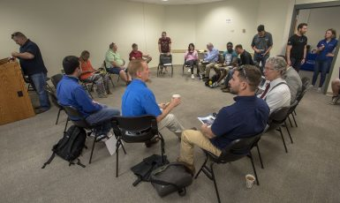 The Military and Veterans Resource Center at the University of West Florida hosting an entrepreneurial class with the Veterans Florida program.