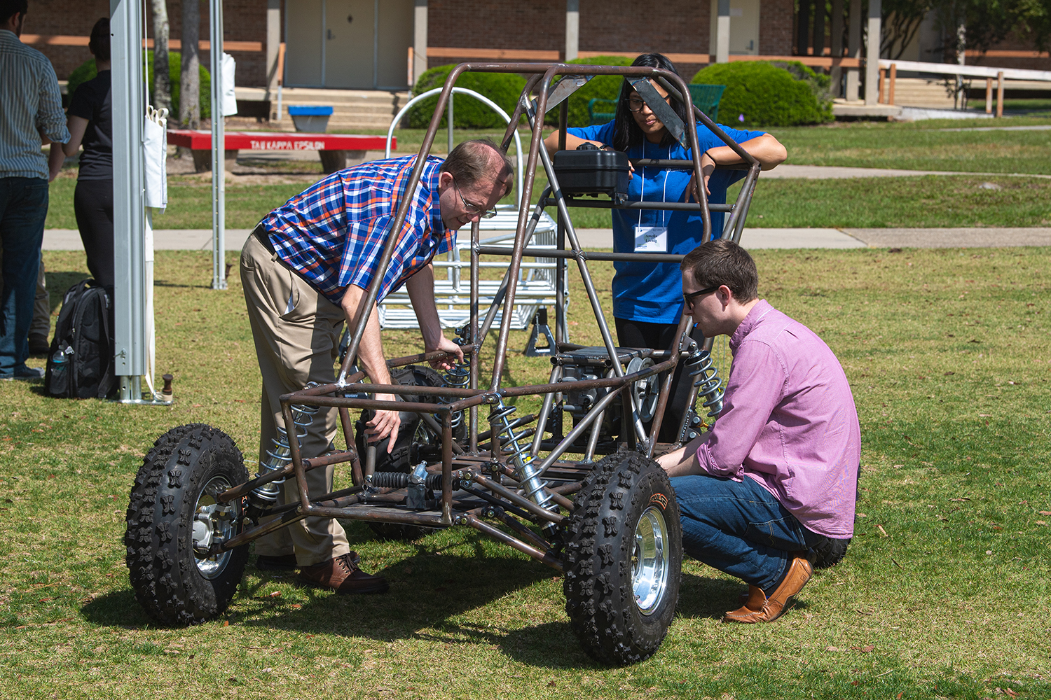 UWF students and professor at Pensacola Maker Faire 2018