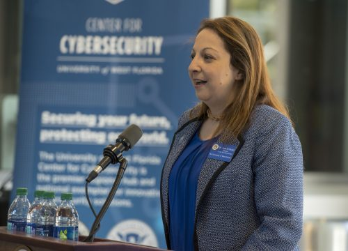 Dr. Eman El-Sheikh at the UWF Center for Cybersecurity