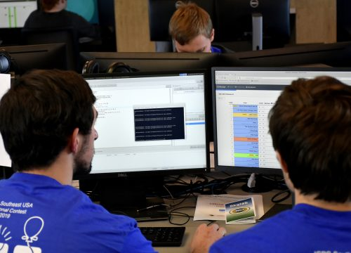 UWF Students during the ACM Programming Competition