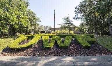 Main entrance to UWF's Pensacola Campus