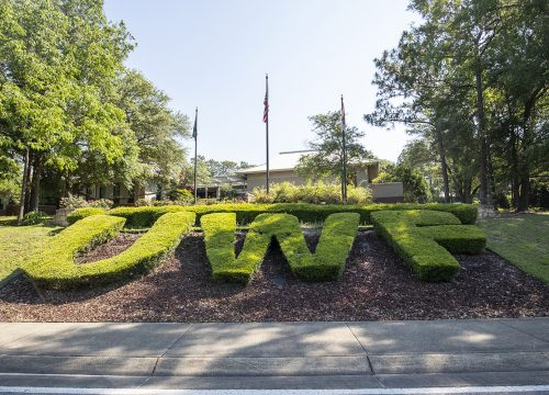 Main entrance to UWF's Pensacola Campus
