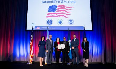 Dr. Eman El-Sheikh and Dr. Tirthankar Ghosh recognized at the CyberCorps Scholarship for Service Awards Ceremony in Washington, D.C.