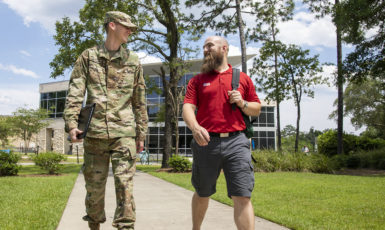 With Pensacola being home to many current and former members of the Armed Forces, the University of West Florida extends its support of those in the military seeking educational opportunities. Consistently ranked a military friendly school, UWF offers the resources needed to those who serve our country proudly.