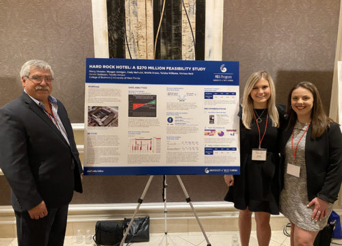 (Pictured left to right) UWF faculty advisor Gerry Goldstein andUWF students Stacy Shrader and Morgan Jernigan