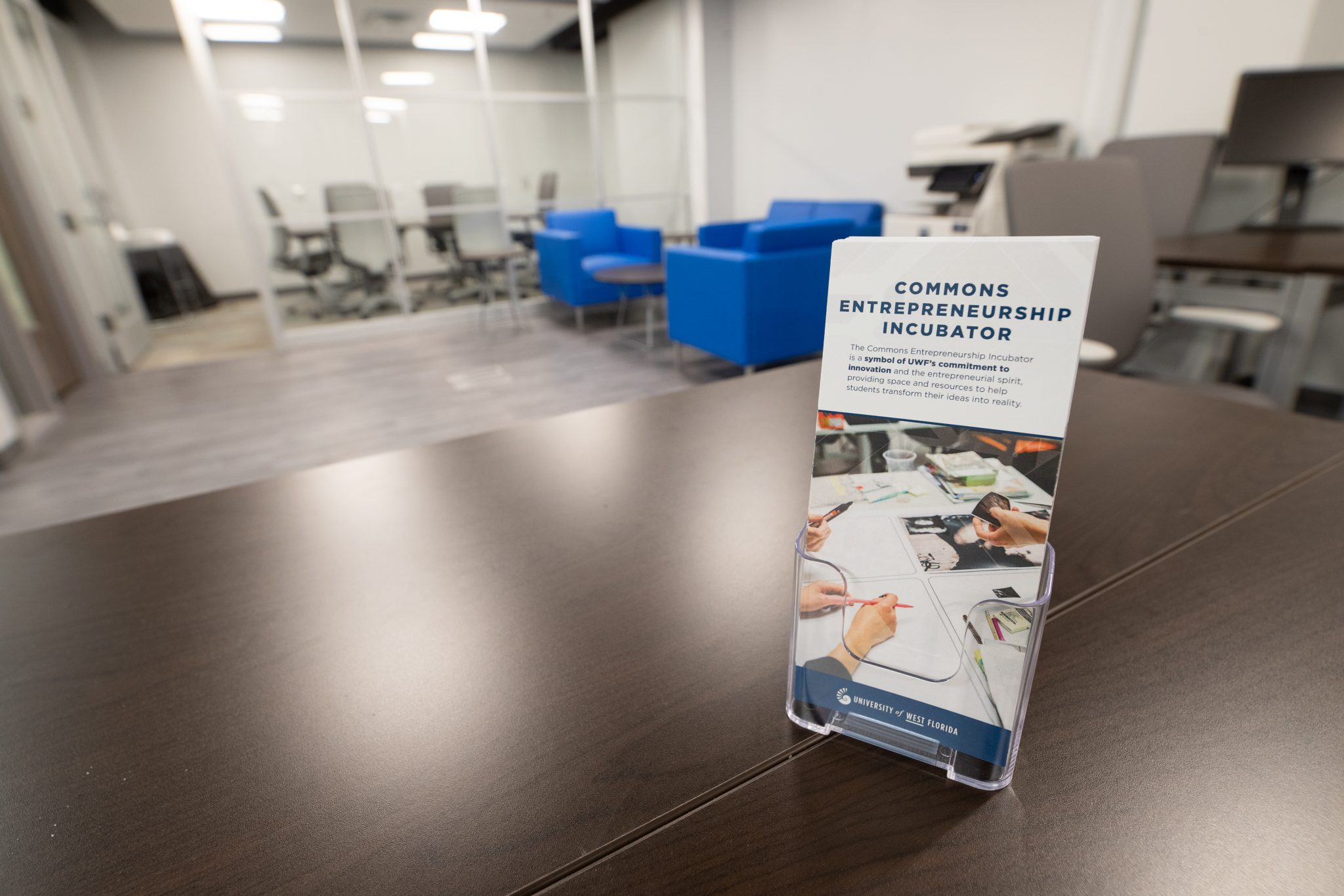 The Commons Entreprenuership Incubator is a symbol of UWF's commitment to innovation and the entrepreneurial spirit, providing space and resources to help students transform thier ideas into reality.