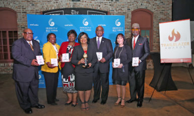 (Pictured left to right)J.O. Gatson, Sonya Culliver, Jewel Cannada-Wynn, Sue Straughn, Norm Ross, Laverne Baker, Jerry McIntosh