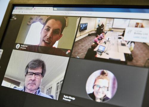 UWF Students in a Model Classroom via eLearning