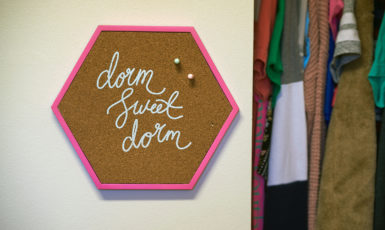 """Sign in a UWF dorm that says """"Dorm Sweet Dorm"""""""