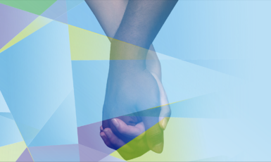 UWF Inclusion graphic of two students holding hands