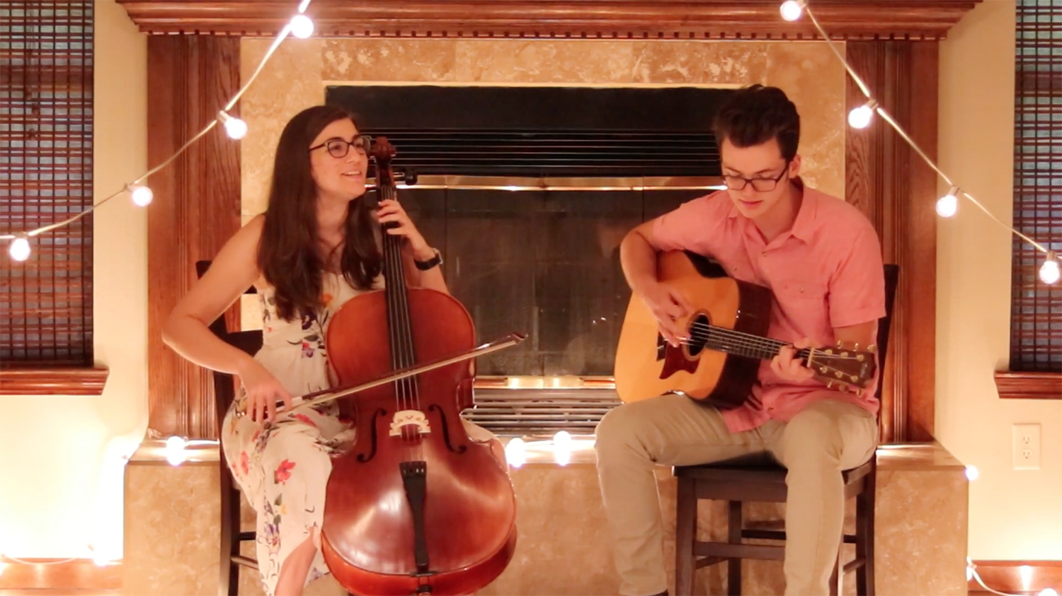 """Delaney Beal and Nathan Keeton singing """"Home is Where the Heart is"""""""