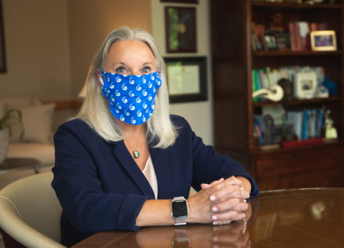 Face Covering Campaign 2020 - President Martha Saunders
