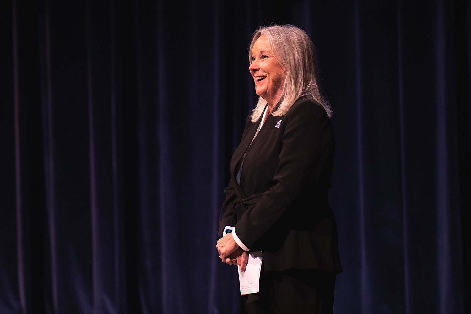 """University of West Florida President Martha D. Saunders reflected on a year of extraordinary accomplishments before turning her attention to """"big goals"""" during her 2019 State of the University address on Sept. 27."""
