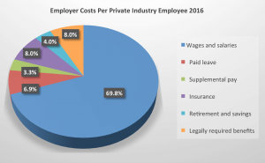 Pie chart explaining numbers from Phyllis Pooley column on health care benefits.