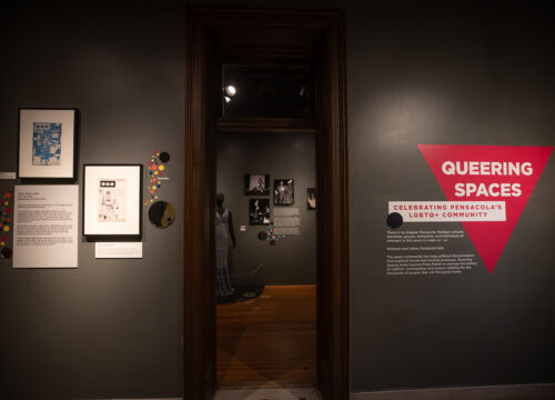 """Queering Spaces"" is an exhibit that celebrates the history and current culture of the LGBTQ+ community in the city of Pensacola. The exhibit is displayed in the T.T. Wentworth Museum in downtown Pensacola."