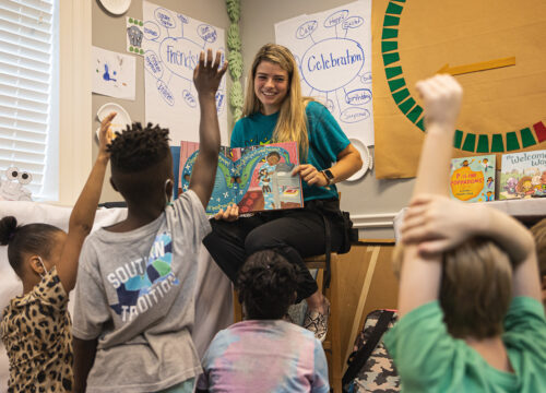 UWF faculty and several alumni assist with teaching and reading to children at the Children's Defense Fund Freedom School of the Central Gulf Coast on June 24, 2021 at St. Christopher's Episcopal Church in Pensacola, Florida.